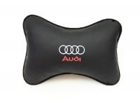 Подушка-подголовник в авто с логотипом Audi