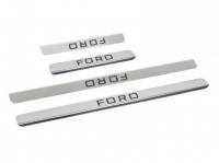 Накладки на пороги из нержав. стали для Ford Focus 2/3