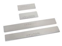 Накладки на пороги из нержав. стали для Hyundai Solaris