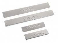 Накладки на пороги из нержав. стали для Toyota Corolla до 2013 г.в.