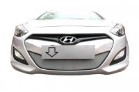 Защитная сетка радиатора для Hyundai i30 2012-2015 хромированная