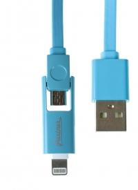 Дата-кабель USB - Lightning и USB - microUSB 2в1