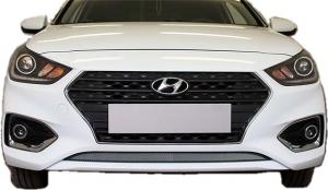 Защитная сетка радиатора для Hyundai Solaris 2 2017->